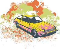 Retro car illustration Royalty Free Stock Photography