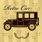 Retro car illustration or background Stock Photography