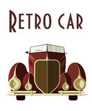 Retro car illustration. Classic car isolated on the white background. EPS.10 Royalty Free Stock Photos