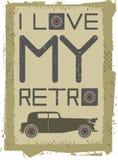 Retro car image Stock Photos