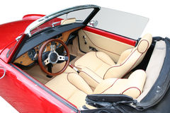 Retro car inside Stock Image