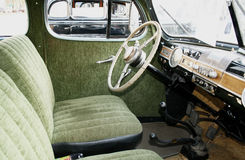 Retro car interior Stock Photography