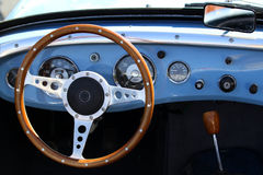 Retro car interior Royalty Free Stock Photo
