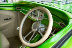 Retro Car Interior Stock Photo