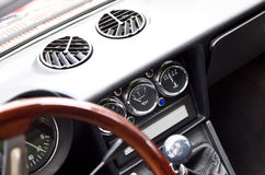 Retro car interior Stock Image