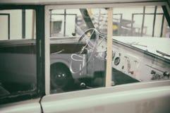 Retro car interior Royalty Free Stock Photo