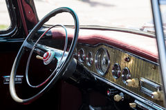 Retro car interior Royalty Free Stock Photos