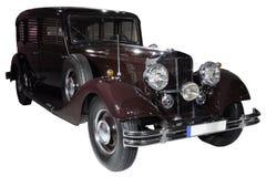 Retro car isolated. Germany retro car isolated on white Royalty Free Stock Photo