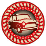 Retro car label. Stock Photo