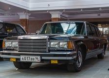 Retro car limousine, exhibit history Museum, Ekaterinburg, Russia, 06.09.2014 year Stock Images