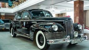 Retro car limousine, exhibit history Museum, Ekaterinburg, Russia, 06.09.2014 year Royalty Free Stock Photo