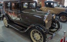 Retro car limousine, exhibit history Museum, Ekaterinburg, Russia, 06.09.2014 year Royalty Free Stock Photography