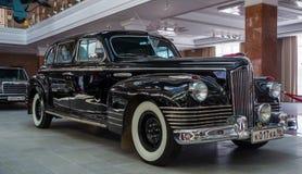 Retro car limousine, exhibit history Museum, Ekaterinburg, Russia, 06.09.2014 year Royalty Free Stock Images