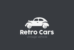 Retro Car Logo vector. Vintage Classic Vehicle Stock Images