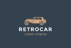 Retro Car Logo vector. Vintage Classic Vehicle  Stock Image