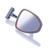Retro car mirror on white background Stock Photo
