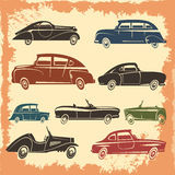 Retro Car Models Vintage Style Collection Royalty Free Stock Photography