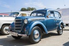 Retro car Moskvich-400/401 avtoarena in Cheboksary. Royalty Free Stock Images