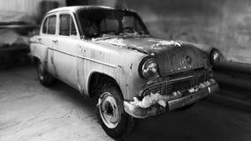 Retro car Moskvich 403. Stock Photo