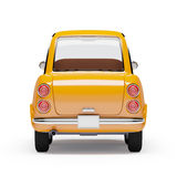 Retro car orange 1960. Retro car orange in 60s style on a white background. Back view. 3d illustration royalty free illustration