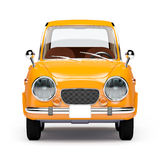 Retro car orange 1960. Retro car orange in 60s style on a white background. Front view. 3d illustration vector illustration