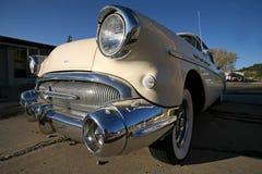 Retro car outdoors Royalty Free Stock Image