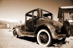 Retro car outdoors Stock Image
