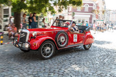 Retro car parade Royalty Free Stock Photos