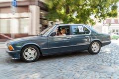 Retro car parade Royalty Free Stock Photography