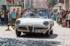 Retro car parade Stock Image