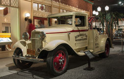 Retro car in the Petersen Automotive Museum in Los Angeles stock photos