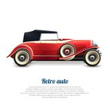 Retro Car Poster Royalty Free Stock Images
