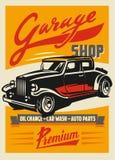 Retro car poster Stock Photography