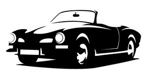 Retro car. For print or for site Royalty Free Stock Photo