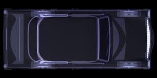 Retro car. X-ray render Stock Photography