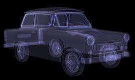 Retro car. X-ray render Stock Photos