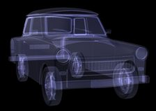 Retro car. X-ray render Stock Images