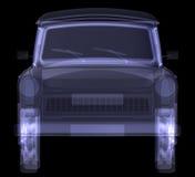 Retro car. X-ray render Royalty Free Stock Photos