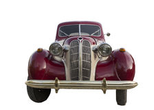 Retro car red front view. Stock Photos