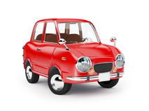 Retro car 1960. Retro car red in 60s style on a white background vector illustration