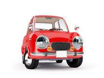 Retro car 1960. Retro car red in 60s style on a white background. 3d illustration royalty free illustration