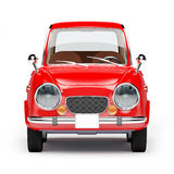 Retro car 1960. Retro car red in 60s style on a white background. Front view. 3d illustration vector illustration