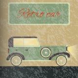 Retro Car. On the road Royalty Free Stock Photos