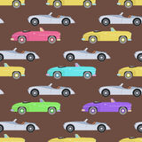 Retro car seamless pattern vector illustration. Stock Images
