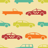 Retro car seamless pattern Stock Photos