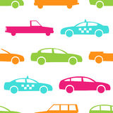 Retro car seamless pattern Stock Photography