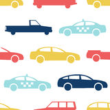 Retro car seamless pattern Stock Photo