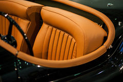 Retro car seat Stock Photos