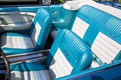 Retro car seats cabriolet Stock Image