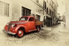 Retro car sepia Royalty Free Stock Image
